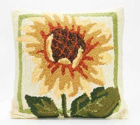 "Plow & Hearth 18"" x 18"" Seasonal Harvest Throw Pillow"