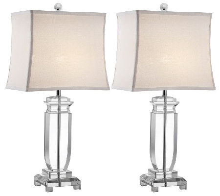 Set of 2 Olympia Crystal Table Lamps by Valerie