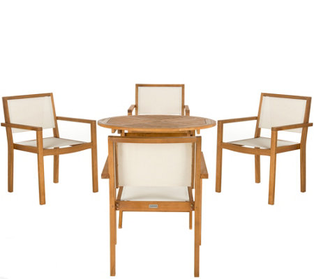 Safavieh Chante 35 4 Round Table 5 Piece Dining Set