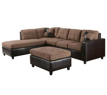 Milano Sectional Sofa U0026 Ottoman By Acme Furniture