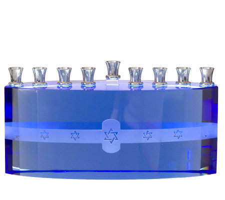 Copa Judaica Blue Ice Menorah