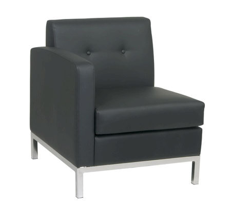 Avenue Six Wall Street SingleArm Chair Left ArmFacing - Black