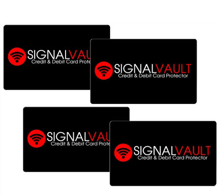 """As Is"" SignalVault Set of 4 Debit & Credit Card Protectors"