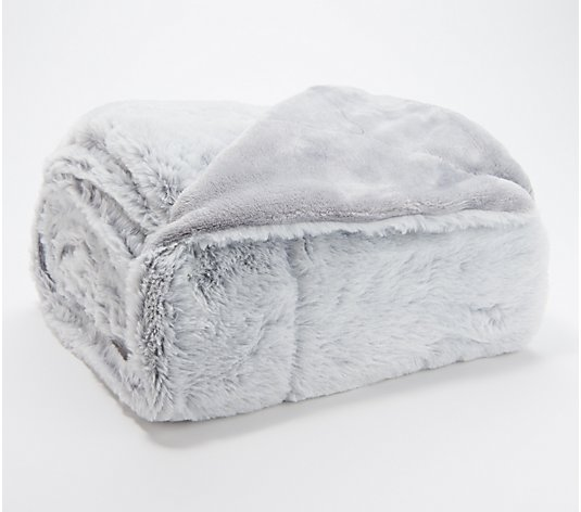 "Berkshire Blanket 50"" x 70"" Luxe Faux Fur Throw with Gift Box"