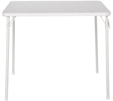 "Cosco 34"" Square Textured Wood Grain Resin TopFolding Table"