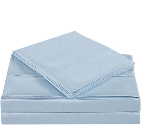 Charisma 310TC Classic Dot Cotton King Sheet Set