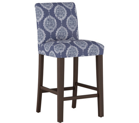 Skyline Furniture Damask Blue Bar Stool