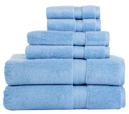 Aerosoft 100% Zero Twist Cotton 6-Piece Bath Towel Set