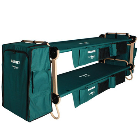 Disc-O-Bed Large Cam-O-Bunk with Side Organizers and Cabinets