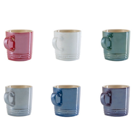Le Creuset Metallics Collection Set of 6 Mugs
