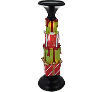 "Kringle Express 13"" Illuminated Holiday Icon Candle Holder Pedestal - H212916"