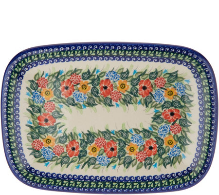 Lidia's Polish Pottery Hand-Painted Daria Platter