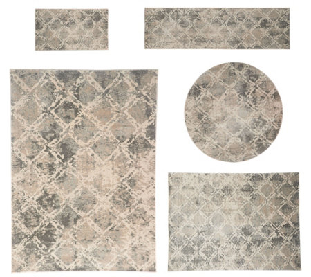 Inspire Me Home Decor Shadow Rug Qvc Com