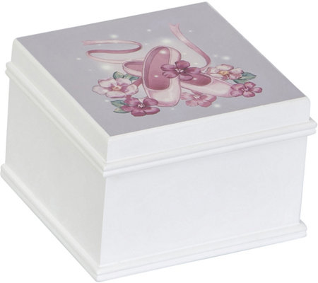 Mele & Co. Surrey Girl's Wooden Musical Ballerina Jewelry Box