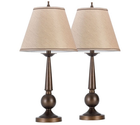 "Globe Set of 2 Electric Classical 27"" Table Lamps"