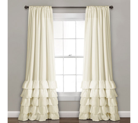 Allison Ruffle Set of 2 Window Curtains by LushDecor