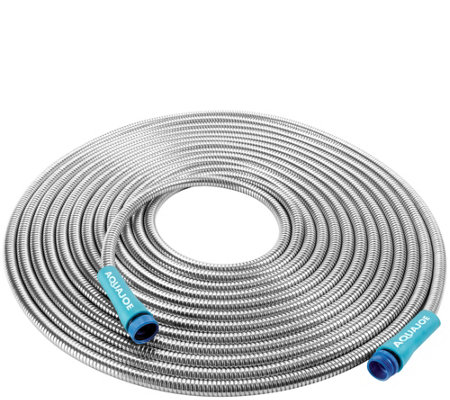 Sun Joe  Heavy-Duty 50' Stainless Steel Metal Garden Hose