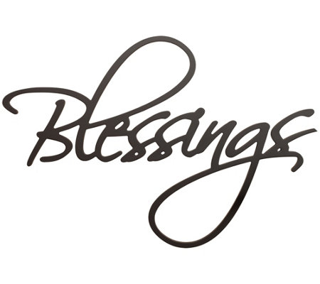 Blessings Wall Art Black Cursive