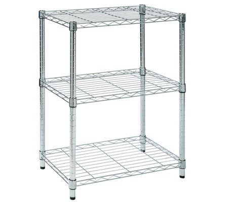 Honey-Can-Do 3-Tier Chrome Steel  Adjustable Shelving Unit