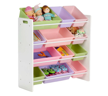 Honey-Can-Do Pastel Colors Sort-and-Store Toy Organizer