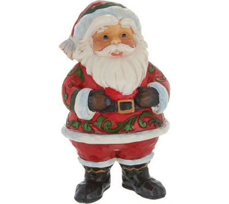Jim Shore Heartwood Creek Pint Size Jolly Santa Figurine