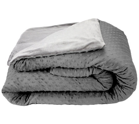 "Blue Ridge 60"" x 80"" 20-lb Weighted Blanket w/ Removable Cover"