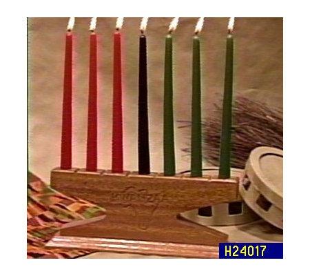 kwanzaa kinara and candle set qvc com
