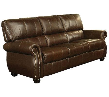 Abbyson Living Lorenzo Italian Leather Sofa