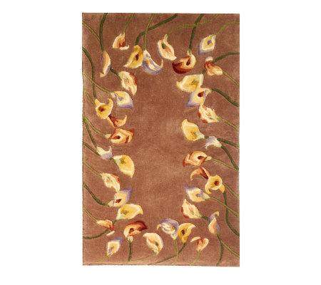 Royal Palace Calla Lily 30 X 50 Handmade Wool Rug