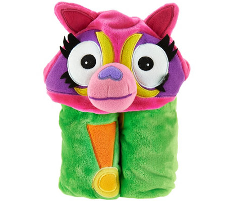 Mack & Moxy Cuddly Buddy Plush Hooded Throw by Berkshire