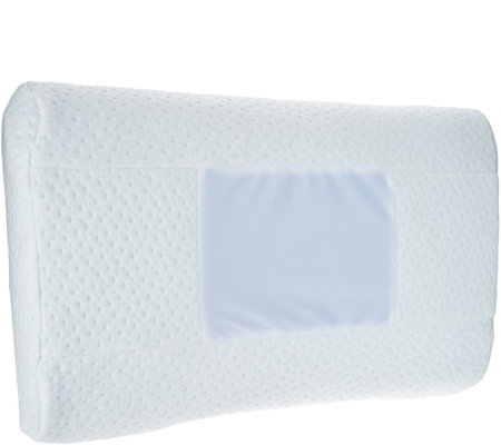 Comfort Adjust Memory Foam Bed Pillow with Neck Support Roll