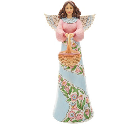 "Jim Shore Heartwood Creek Oversized 22"" Spring Angel Statue"