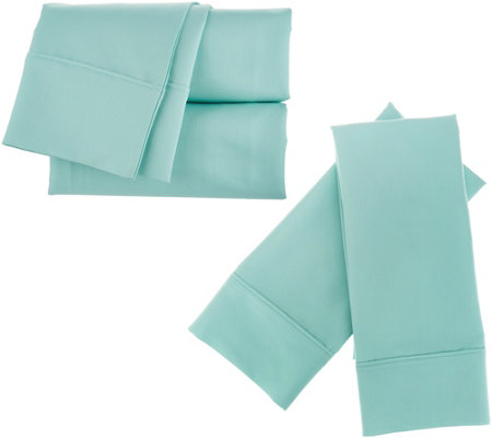 Home Reflections 2000TC Cooling 6 pc Easy Care King Sheet Set
