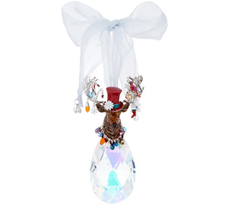 Kirks Folly Stagolee Crystal Holiday Ornament