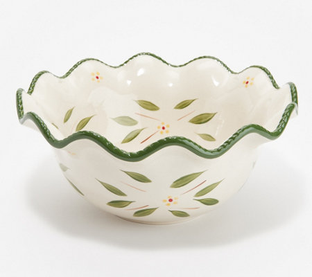 Temp-tations Old World 2-qt Ruffled Bowl