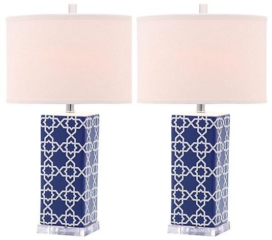 Set of 2 Quatrefoil Table Lamps by Valerie