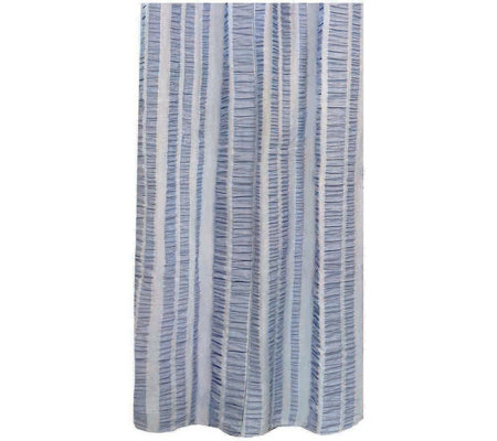 "Seersucker Banded Columns 72"" x 72"" Shower Curtain"