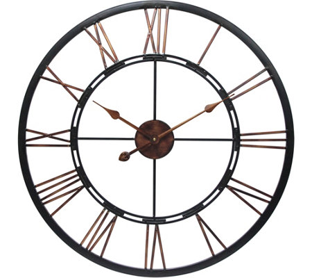 "Metal Fusion 28"" Oversized Round Wall Clock byInfinity"
