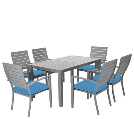 Cosco 7-Piece Veil Brushed Aluminum Patio Furniture Set