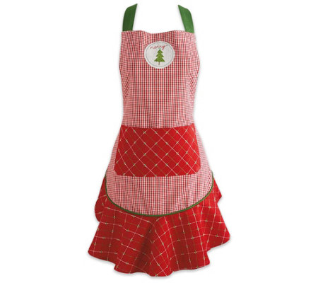 Design Imports Merry Christmas Ruffle Apron