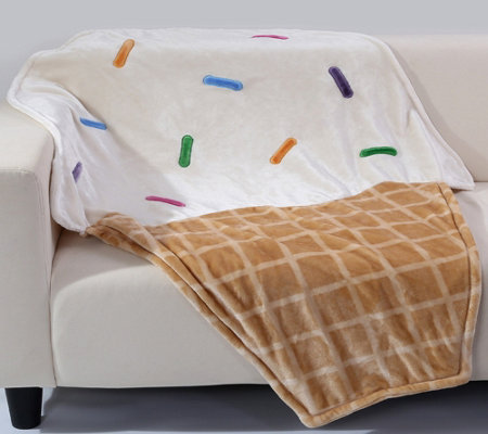Ice Cream Cone Footie Throw