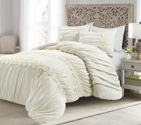 Darla 3 Piece King Comforter Set By Lush Decor Qvc