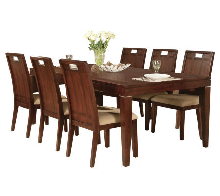 Donovan Walnut Finished Formal Dining Set By Acme Furniture