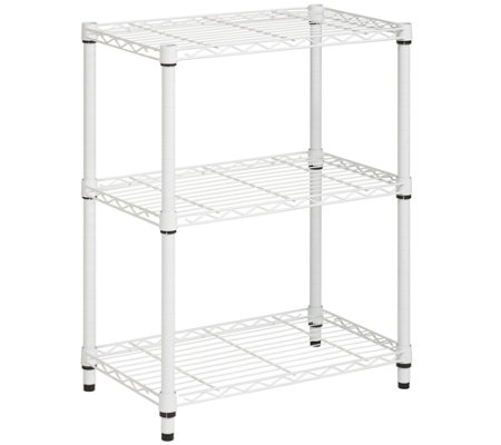 Honey-Can-Do 3-Tier White Steel Urban Adjustable Shelving Uni