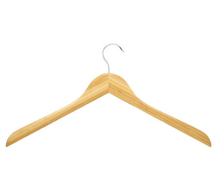 Honey-Can-Do 10-Pack Bamboo Shirt/Dress Hangers