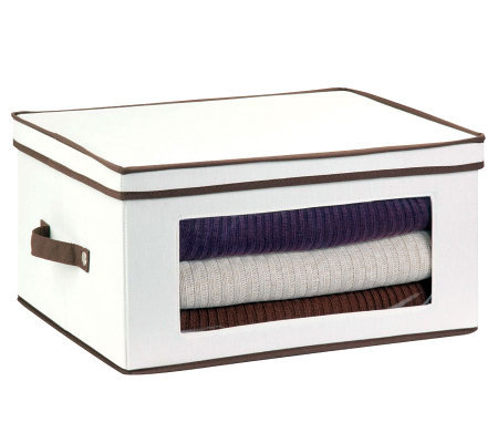 Honey-Can-Do Natural Canvas Large Window Storage Chest
