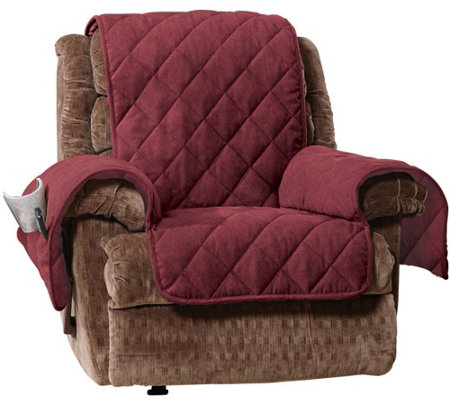 sure fit recliner cover Sure Fit Recliner Furniture Cover with 1