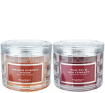 HomeWorx by Harry Slatkin S/2 Special Edition 3 Wick Candles - H211419