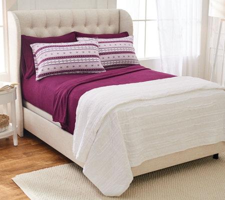 Malden Mills Polarfleece Qn Sheet Set W Extra Fairisle Pillowcases