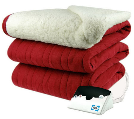 Biddeford Knit Full Size Heated Blanket with Sherpa Back